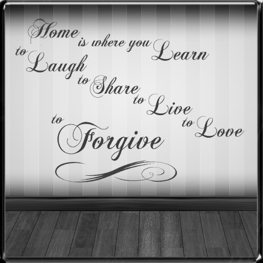 *~LT~* Home Forgive Wall Art Decal