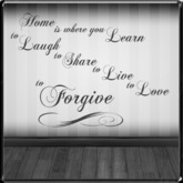 *~LT~* Home Forgive Wall Art Decal