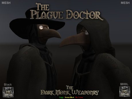 DMW - Mesh Plague Doctor Outfit - Black