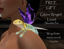 Gitane Winged Lizard Shoulder pet + Sounds