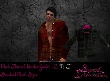 ::Sweet Intoxication::Mesh Flannel Hooded Jacket Grey
