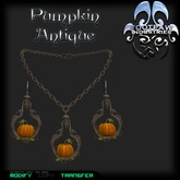 [FPI] Pumpkin Antique Jewelry Set with Necklace & Earrings
