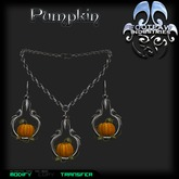 [FPI] Pumpkin Jewelry Set with Necklace & Earrings