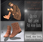 NS:: Salmon Flat Ankle Boot