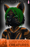 Luskwood Pumpkin Patch Tiger - Female - Complete Furry Avatar