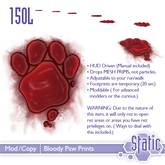 Bloody Paw Prints ::Static::