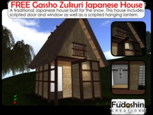 "FREE Gassho Zukuri - ""Praying Hands"" Japanese Small House"