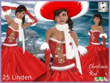 EL Christmas red dress  EJ-62 -149
