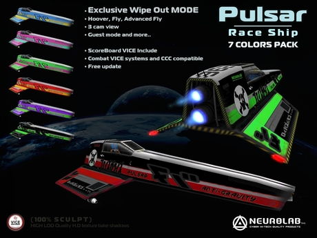 * SALE OFF 15% * PULSAR RACE SHIP PACK W/ COMBAT SYSTEM [Neurolab Inc]