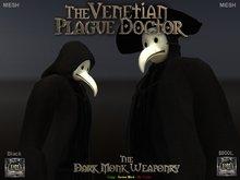 DMW Mesh Venetian Plague Doctor - Black