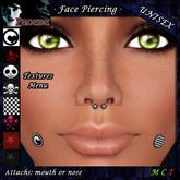 *P* Unisex Face Piercings ~Serie Z2~ Plug Textures