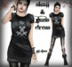 Corvus : Skull and Guns Knotted Dress