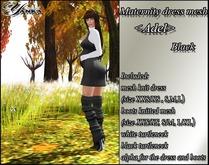 Maternity dress mesh <Adel> Black