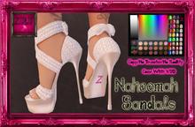 -Z-Naheema Sandal Shoes(White)