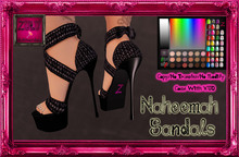 -Z-Naheema Sandal Shoes(Black)