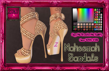 -Z-Naheema Sandal Shoes(Gold)