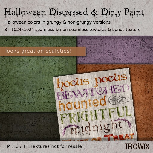 Trowix - Halloween Distressed & Dirty Paint Textures
