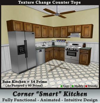 Second Life Marketplace Corner Smart Kitchen Template