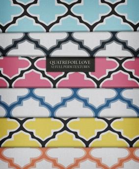 Quatrefoil Love ♥ 32 Full Perm Textures ( Seamless & Shaded )