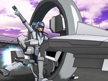 Yu-Gi-Oh Jack Atlas Mesh Avatar With Duel Runner
