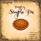 [DDD] Pie - Pumpkin  - 100% Mesh, Unscripted, 1 prim, no Anims
