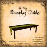 [DDD] Fall Seasonal Display Table - Grn/Gld