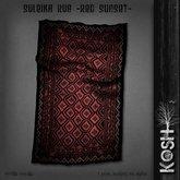 KOSH- SULEIKA RUG -red sunset-