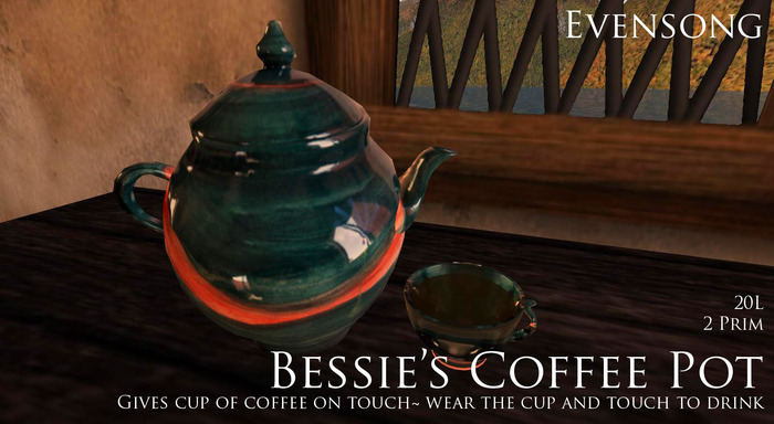 Evensong Bessie's Coffee Pot
