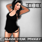 [M.o.w] Black Tank Pocket (Bag Wear)