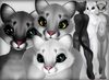 Cougar - Grayscale Pack - Chinchilla Furry Mod BOM