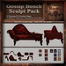 Antique Gossip Bench Sculpt Pack , Sculpted Victorian Chaise Lounge, 10 Sculpty Maps & 39 Textures Full Perms