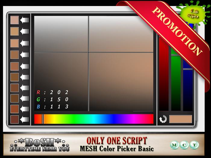 .:*BoSH*:. Mesh Color Picker Basic