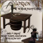 LORIEN WATER PUMP TABLE