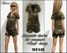 Jumpsuit shorts for pregnant mesh <Tory> Army