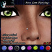 [$10L PROMO] ~ *P* Nose Gem Piercing ~Colors & Bling~ Silver & Black (U)