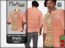 Pepito Mesh Buttoned Shirt - 70`s Collection - Salmon