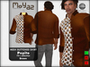 Pepito mesh buttoned shirt 70s brown