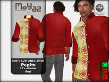 Pepito Mesh Buttoned Shirt - 70`s Collection - Red