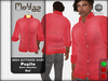 Pepito mesh buttoned shirt basic red