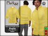 Pepito mesh buttoned shirt basic yellow