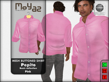 Pepito Mesh Buttoned Shirt - Basic Collection - Pink