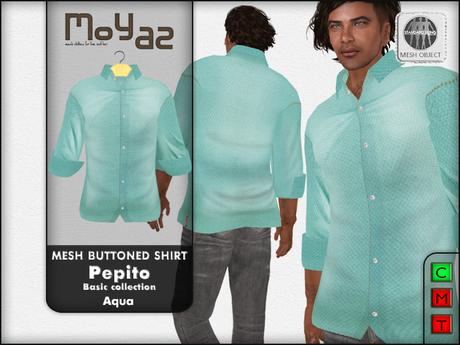 Pepito Mesh Buttoned Shirt - Basic Collection - Aqua