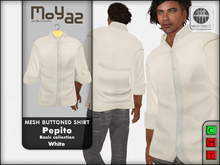 Pepito Mesh Buttoned Shirt - Basic Collection - White