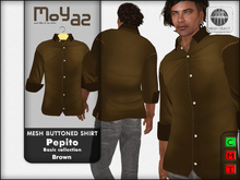 Pepito Mesh Buttoned Shirt - Basic Collection - Brown