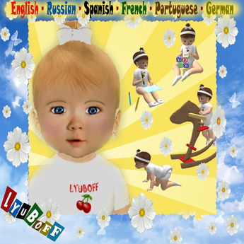 Growing Animated Baby (age 8-36 months) with Stats