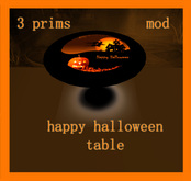 Orange halloween table
