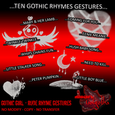 Mindshift - Gesture Pack (Rude Rhymes Goth Girl)