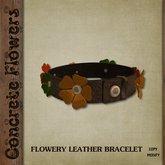 CONCRETE FLOWERS- FLOWERY LEATHER BRACELET