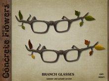CONCRETE FLOWERS-BRANCH GLASSES