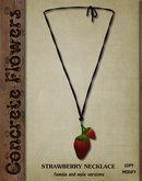 CONCRETE FLOWERS- STRAWBERRY NECKLACE